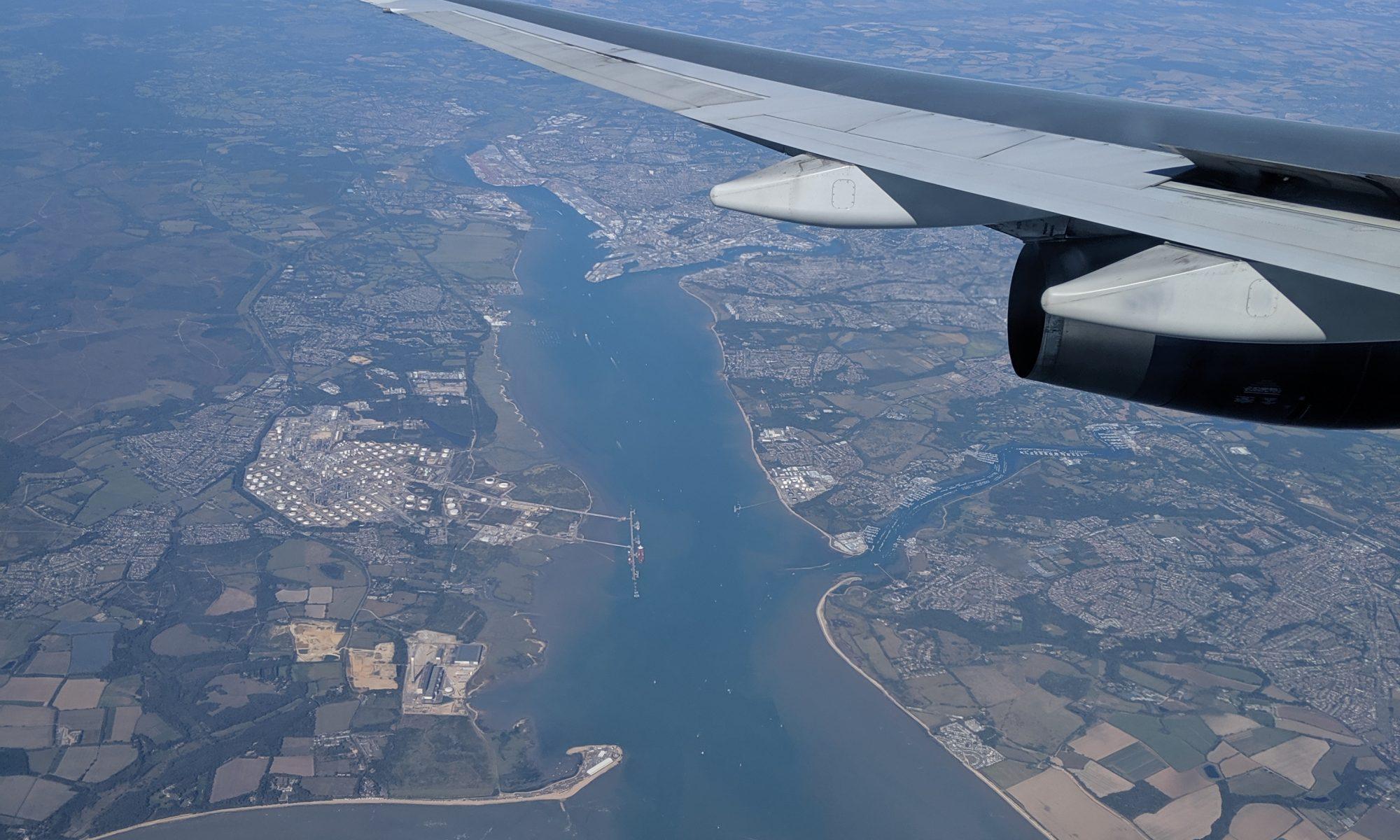 Flight over England