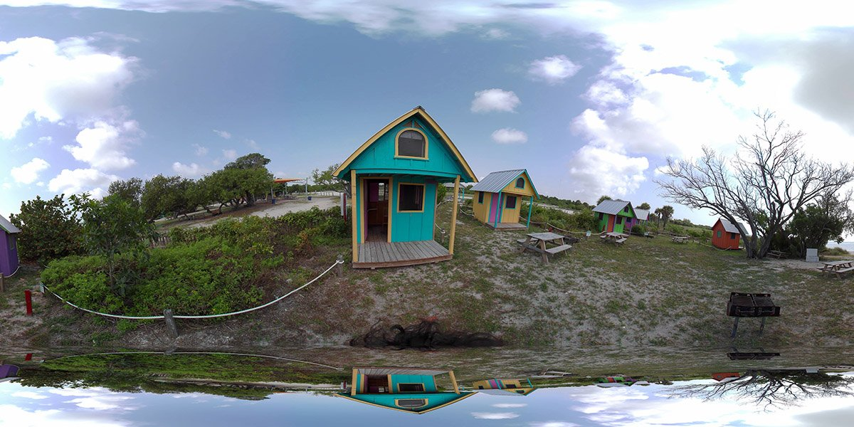 360 Capture of Historic Virginia Key Park Beach 2020