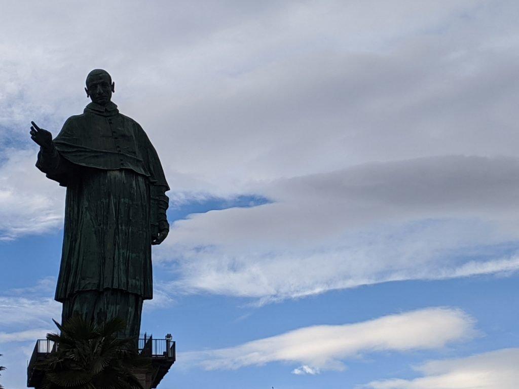 San Carlone Statue in Italy near Arona